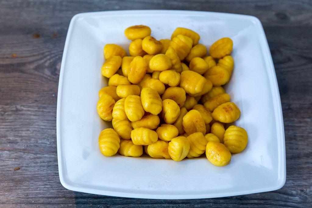 Gnocchi with pumpkin seeds