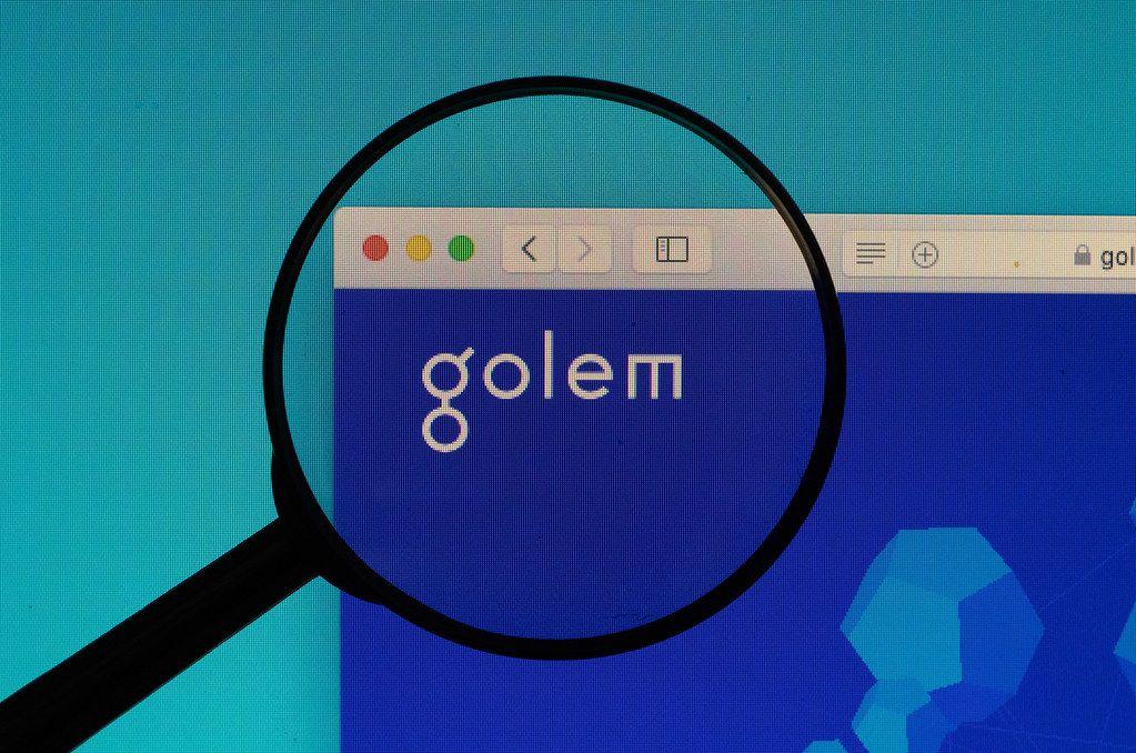 Golem logo under magnifying glass