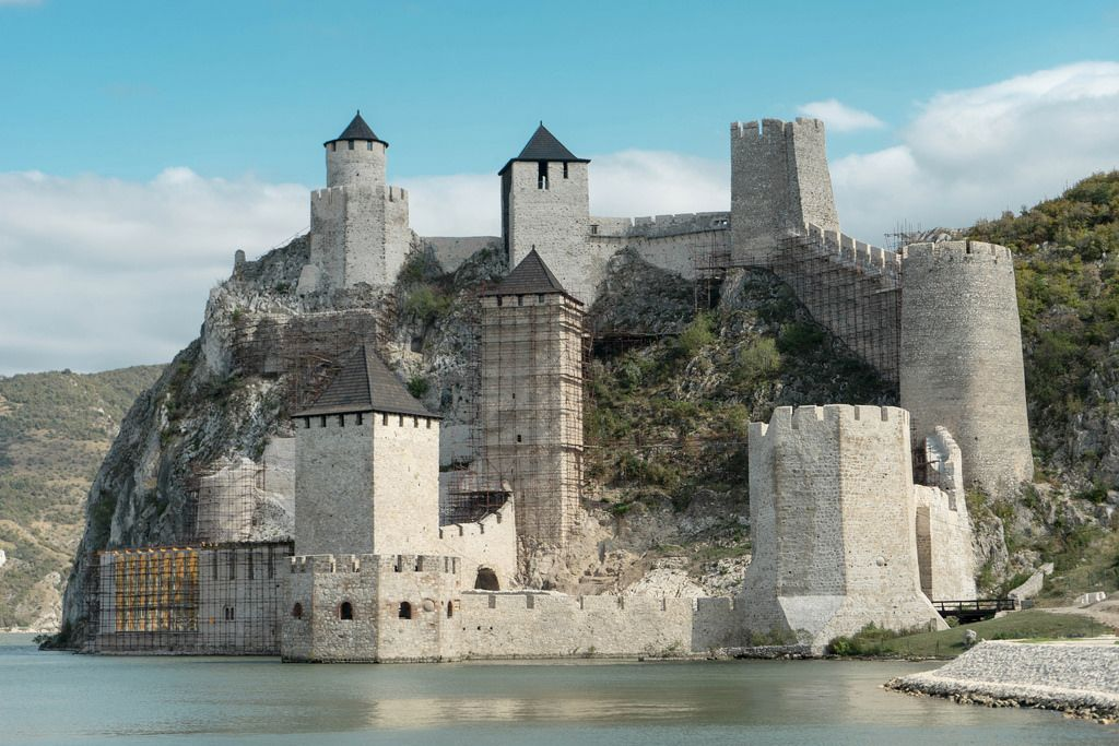 Golubac Medieval Fortress at the Danube River