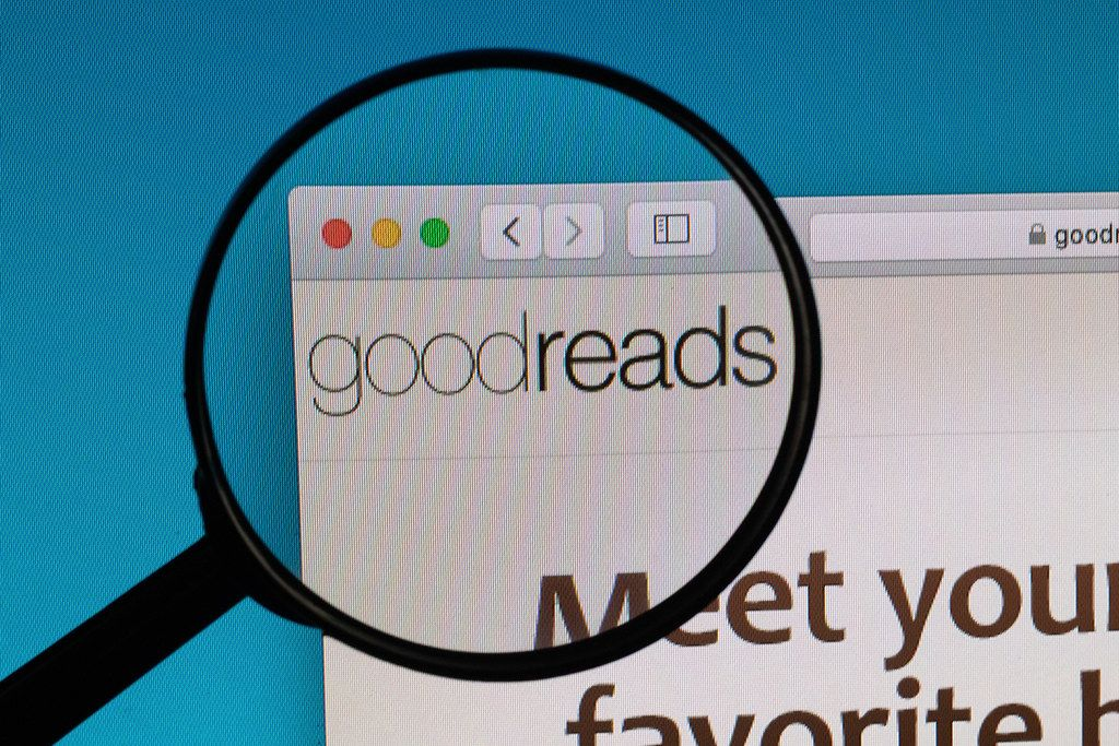Goodreads logo under magnifying glass