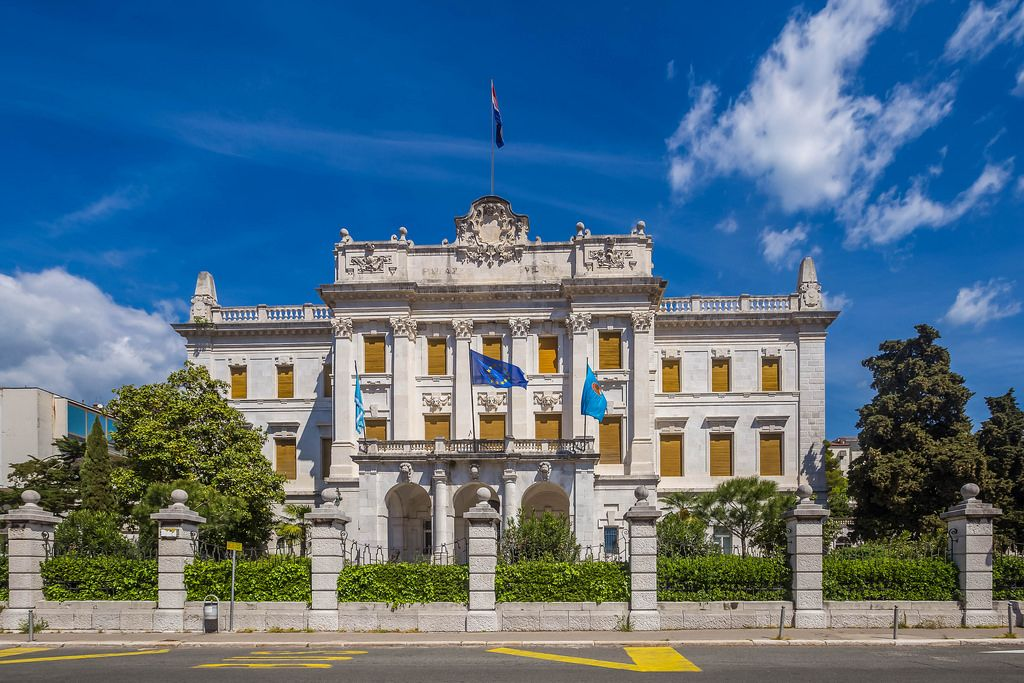 Governor's palace in Rijeka, Croatia