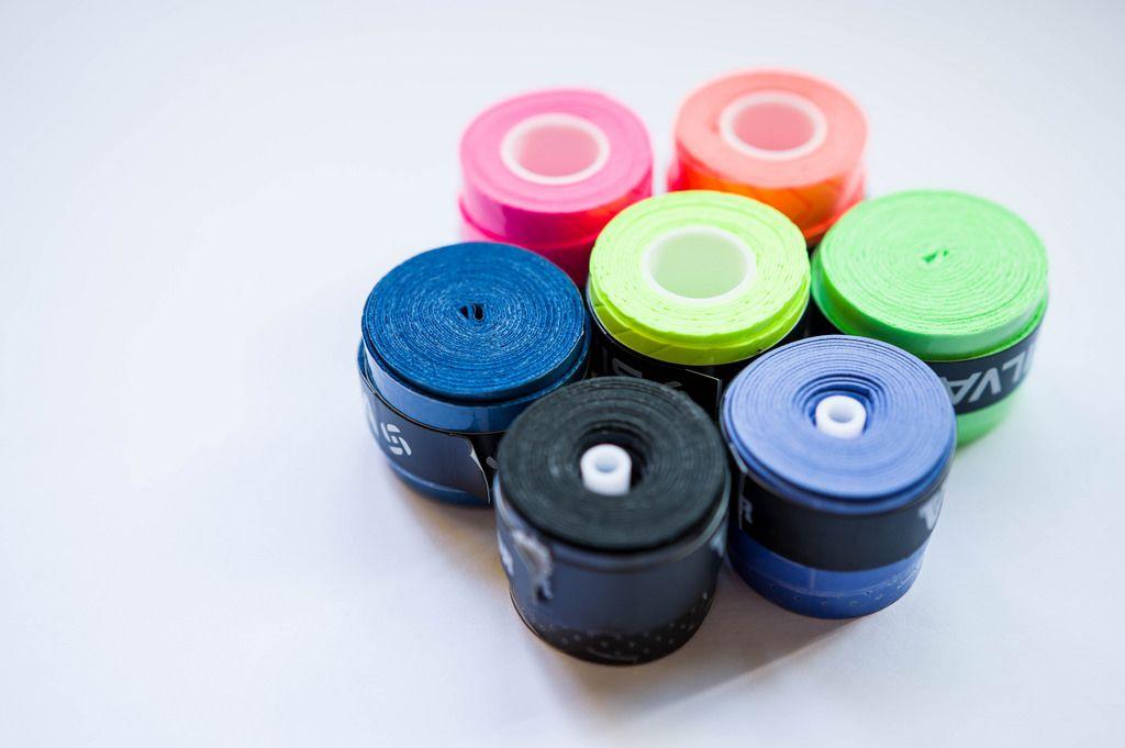 Griffbänder für Tennisschläger in verschiedenen Farben