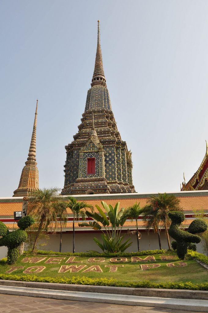 Großer Buddha-Tempel Wat Po in Bangkok, Thailand