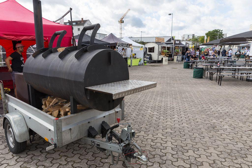 Großer Grill für American Barbecue