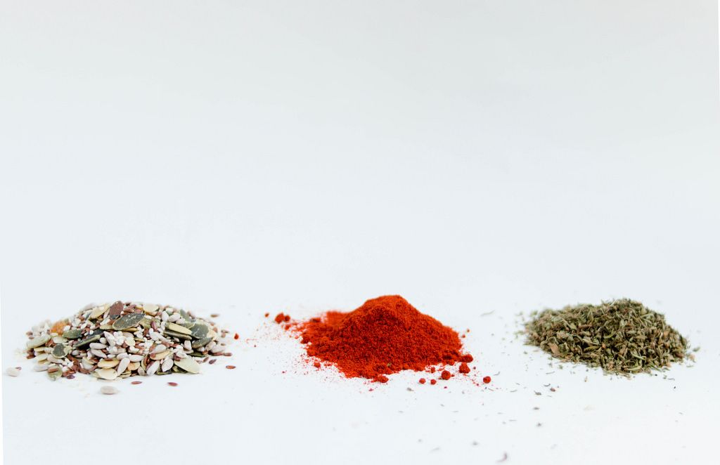 Group of different kinds of spices