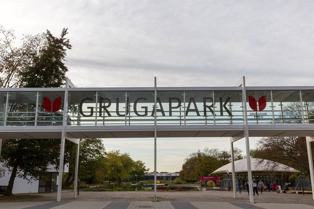 Grugapark in Essen Sicht auf den Eingang