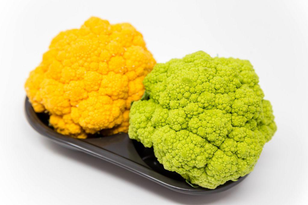 Grüner und gelber Mini-Blumenkohl von Jimbo Fresh International