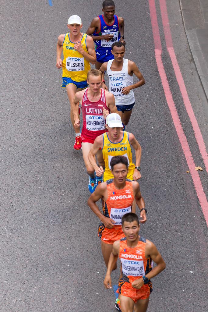 Gruppe um Byambajav TSEVEENRAVDAN beim Marathon 2017