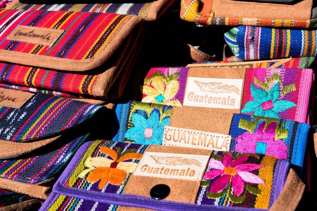 Guatemaltekisch Brieftaschen als Souveniers