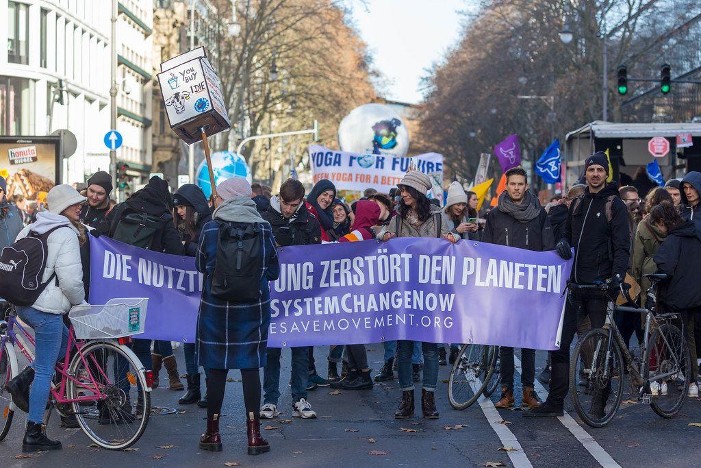Gut besuchte Fridays for Future Demonstration am 29.11.19 in Köln