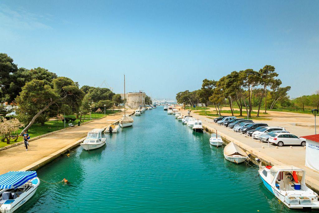 Hafen für kleine Boote in Trogir