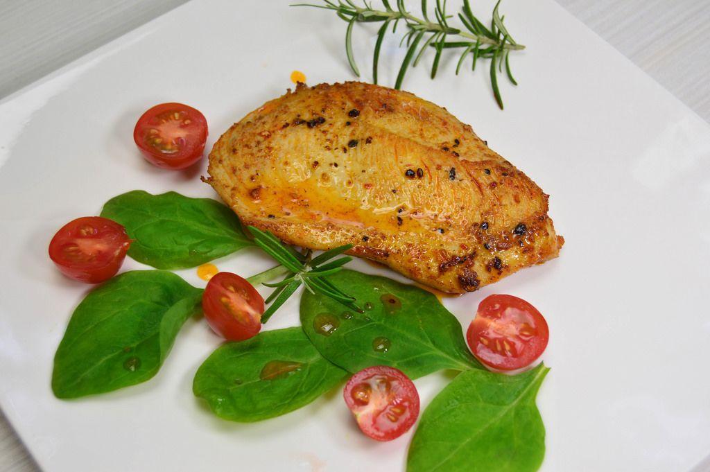 Hähnchen-Schnitzel mit Tomaten
