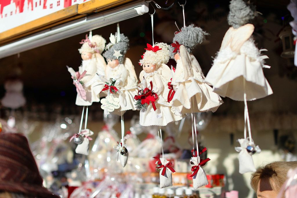 Handmade dolls at market