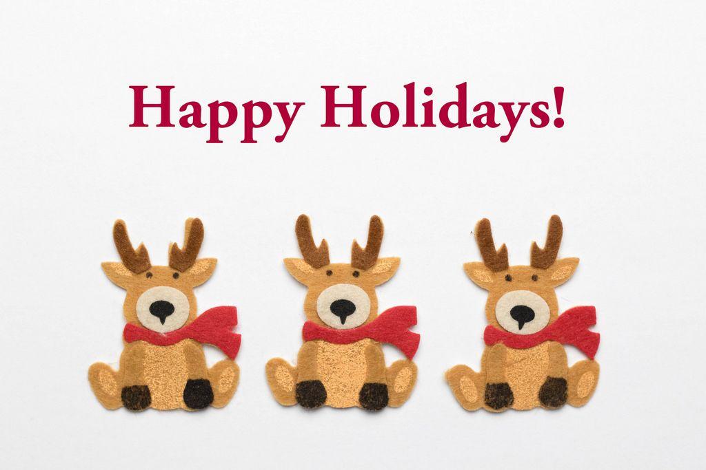Happy Holidays - Rentiere