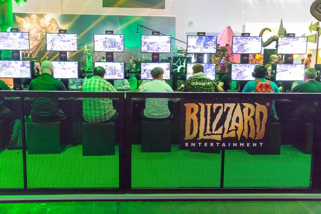 Hardcore Gaming am Messestand von Activision Blizzard - Gamescom 2017, Köln