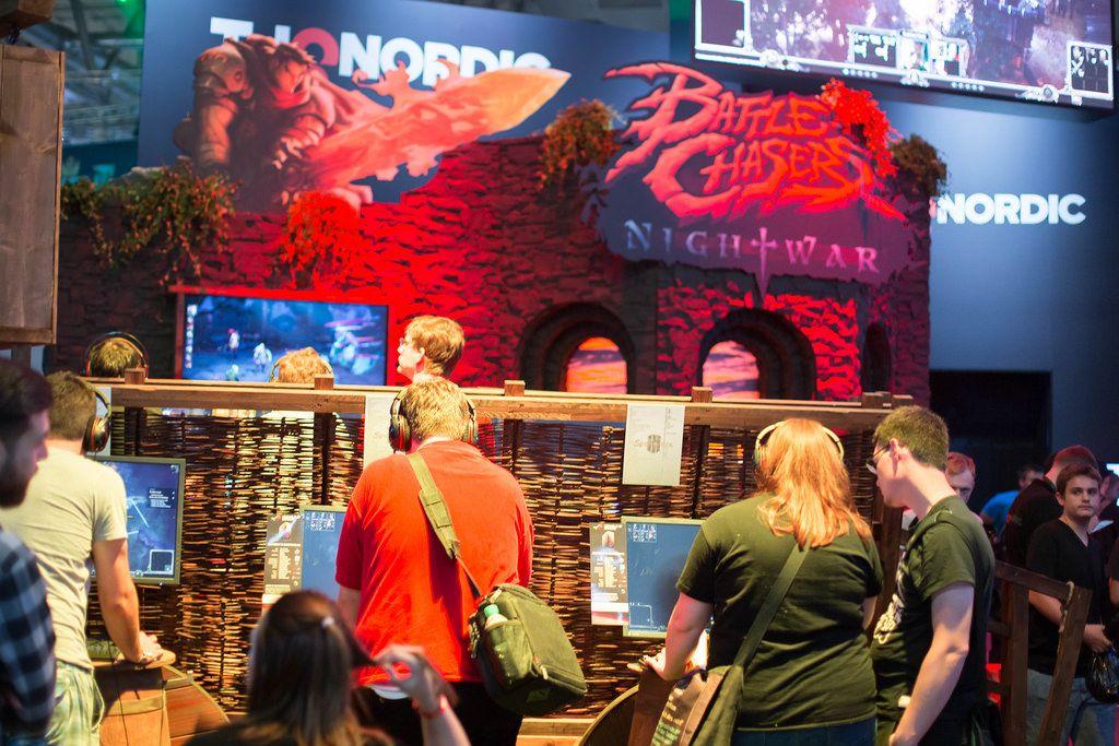Hardcore Gaming am Messestand von Battle Chasers von Nightwar