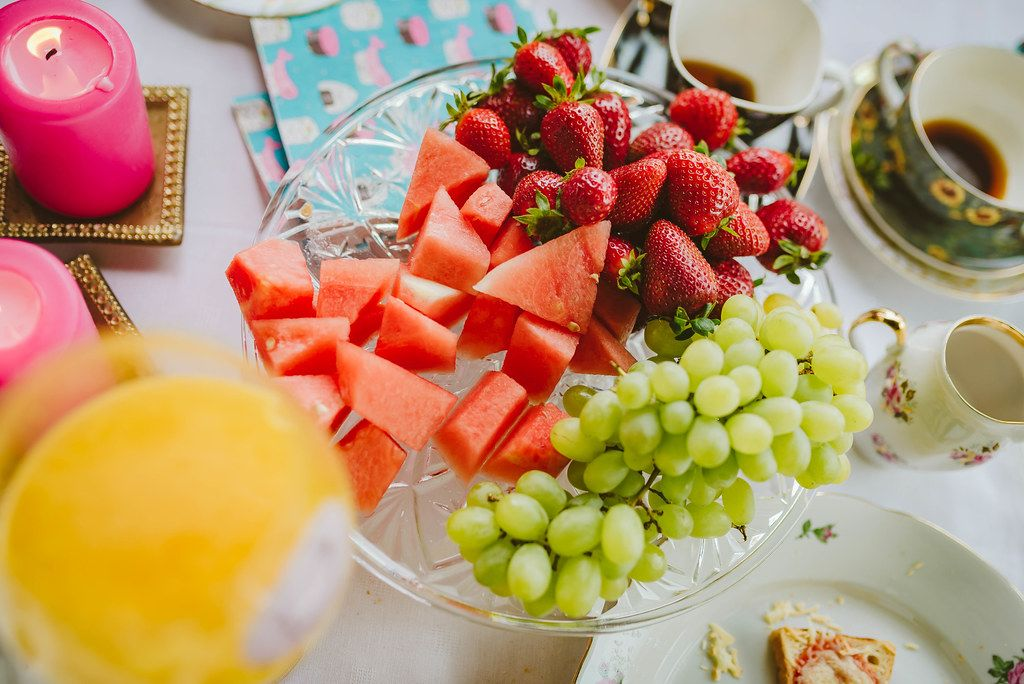 Healthy Fruit Plate Of Watermelon, Grapes, Strawberries (Flip 2019)