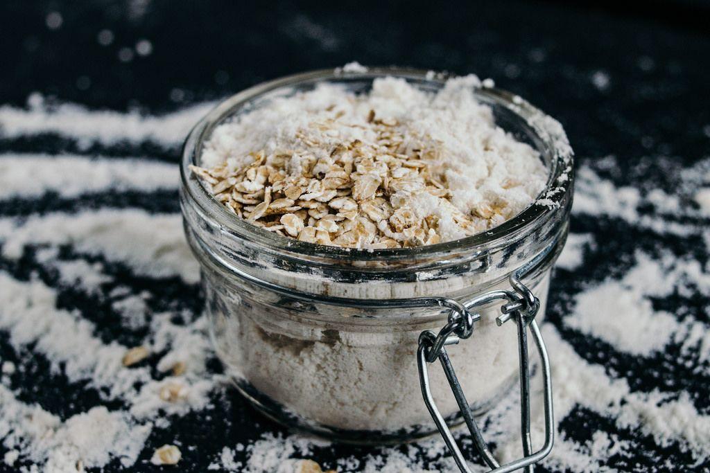 Healthy Jar with Flour and Muesli