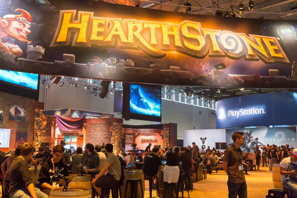 HearthStone am Messestand von Activision Blizzard - Gamescom 2017, Köln