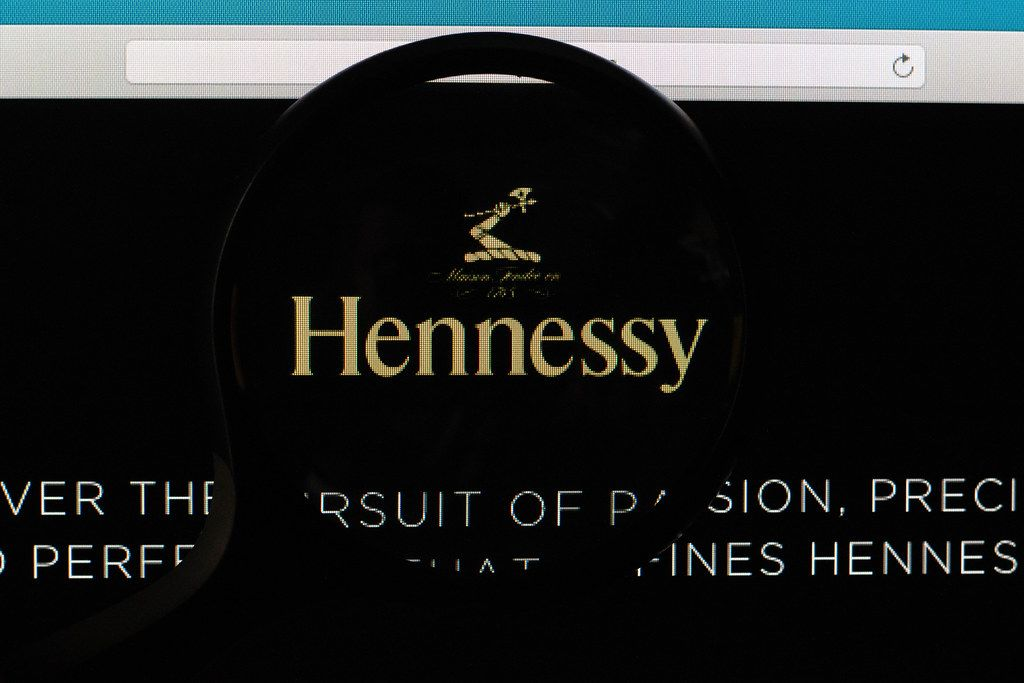 Hennessy logo under magnifying glass