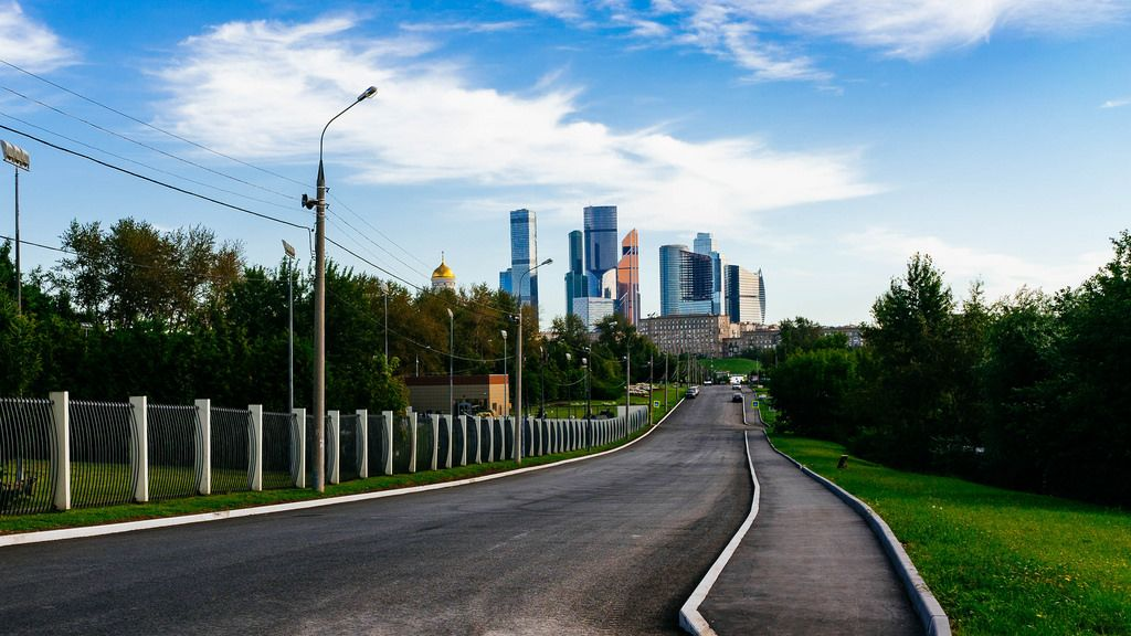 High rises of Moscow city / Hohe Aufstiege der Moskauer Stadt