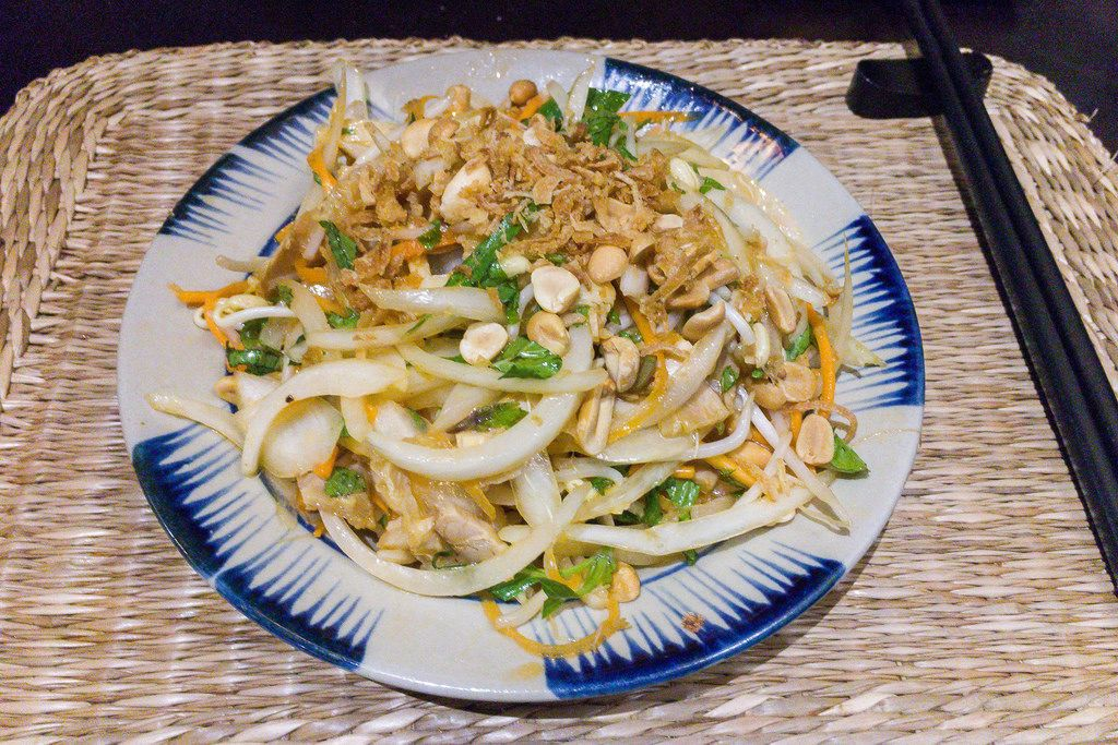 Hoi An shredded Chicken and local herb salad