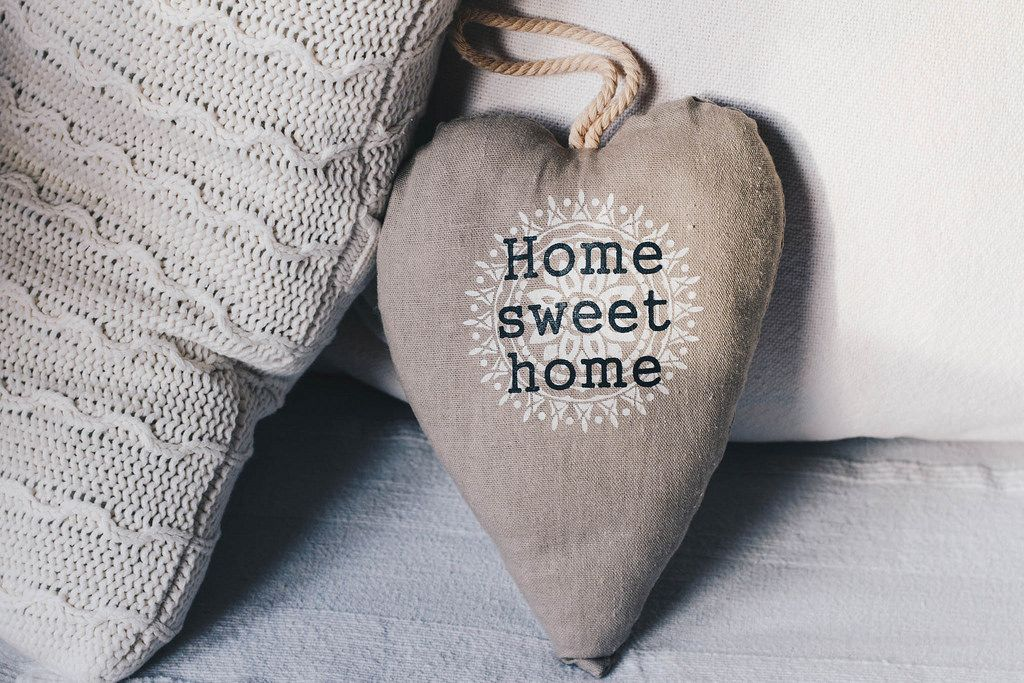 Home sweet home small pillow . Interior idea