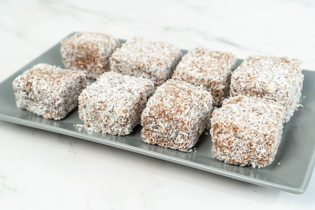 Homemade coconut cookies on the plate (Flip 2019)