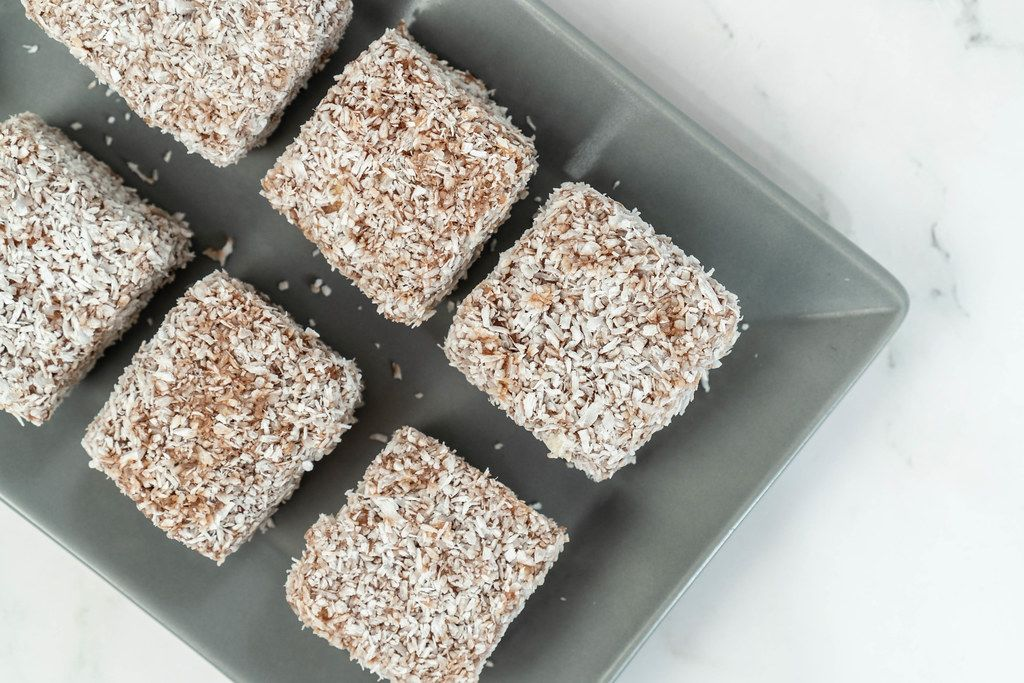 Homemade coconut cookies on the square plate (Flip 2019)