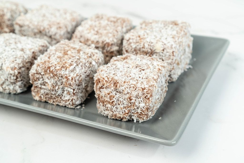 Homemade coconut cookies served on the plate (Flip 2019)