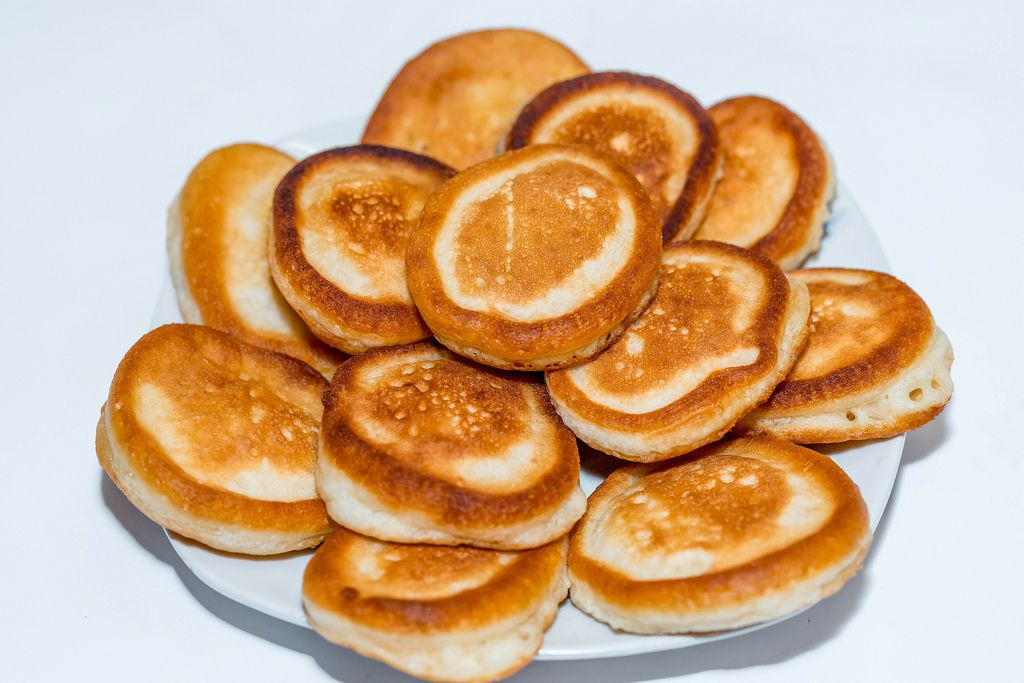 Homemade fried pancakes for Breakfast (Flip 2019) (Flip 2019) Flip 2019