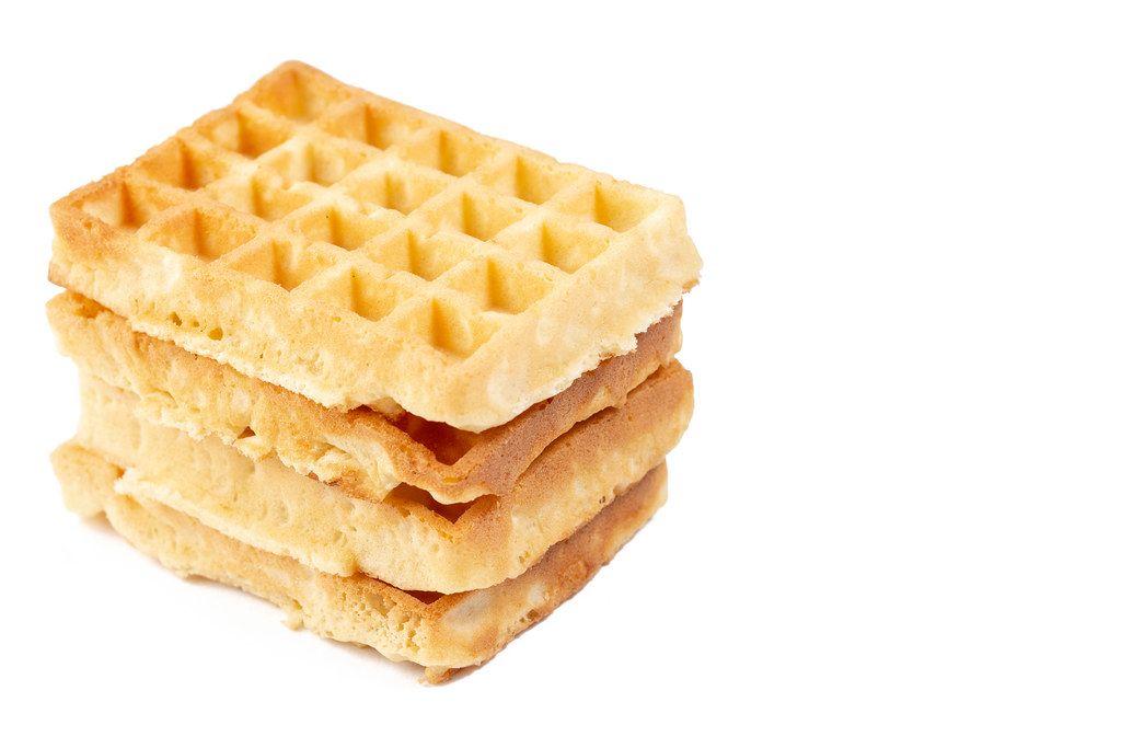 Homemade Waffles isolated on white background (Flip 2019)