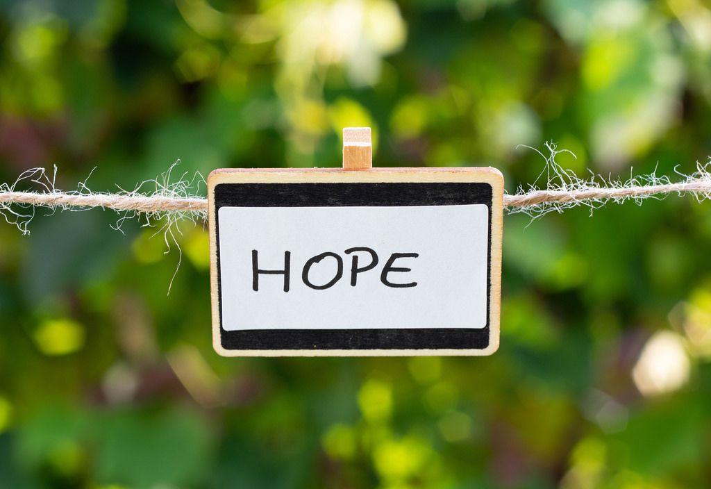 Hope written on a plate