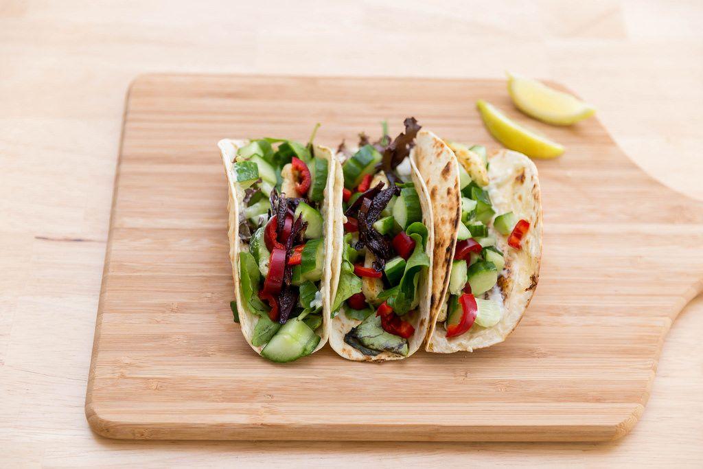 Hot halloumi tacos by Hellofresh
