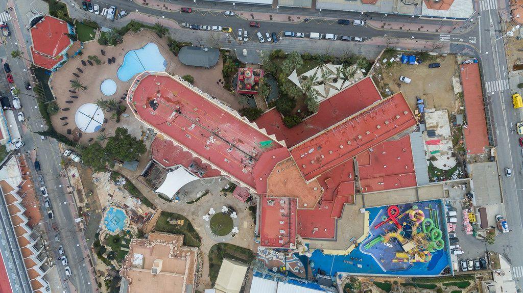 Hotel Sol Katmandu Park & Resort in Magaluf, Mallorca aus der Vogelperspektive