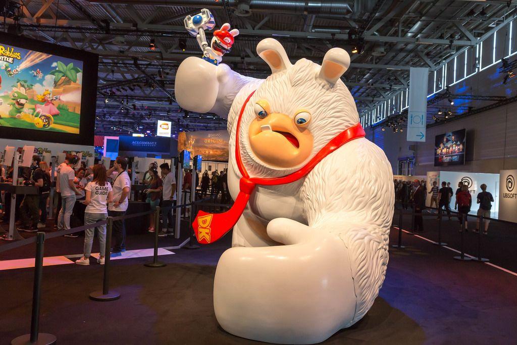 Huge sculpture Mario + Rabbids Kingdom Battle - Gamescom 2017, Cologne