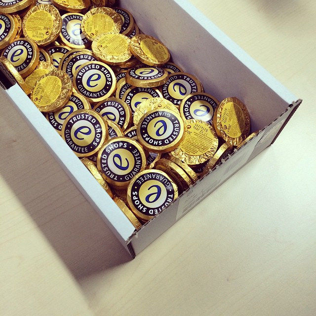 I am rich now. #bitcoins #coins #chocolate #gold #sweets #trustedshops