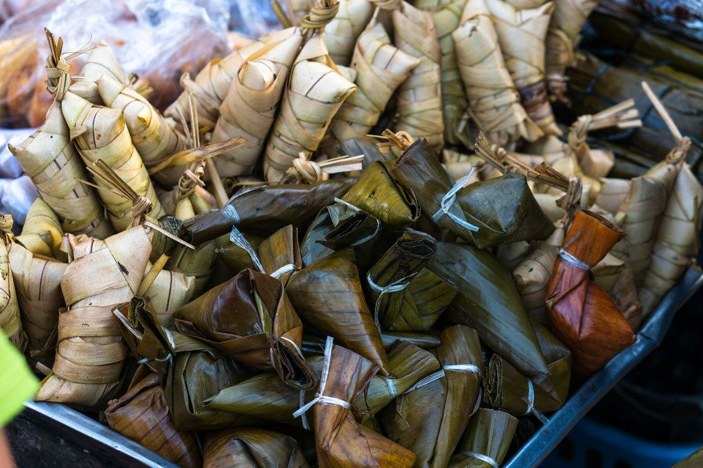 Ibos street food wrapped in banana leaves