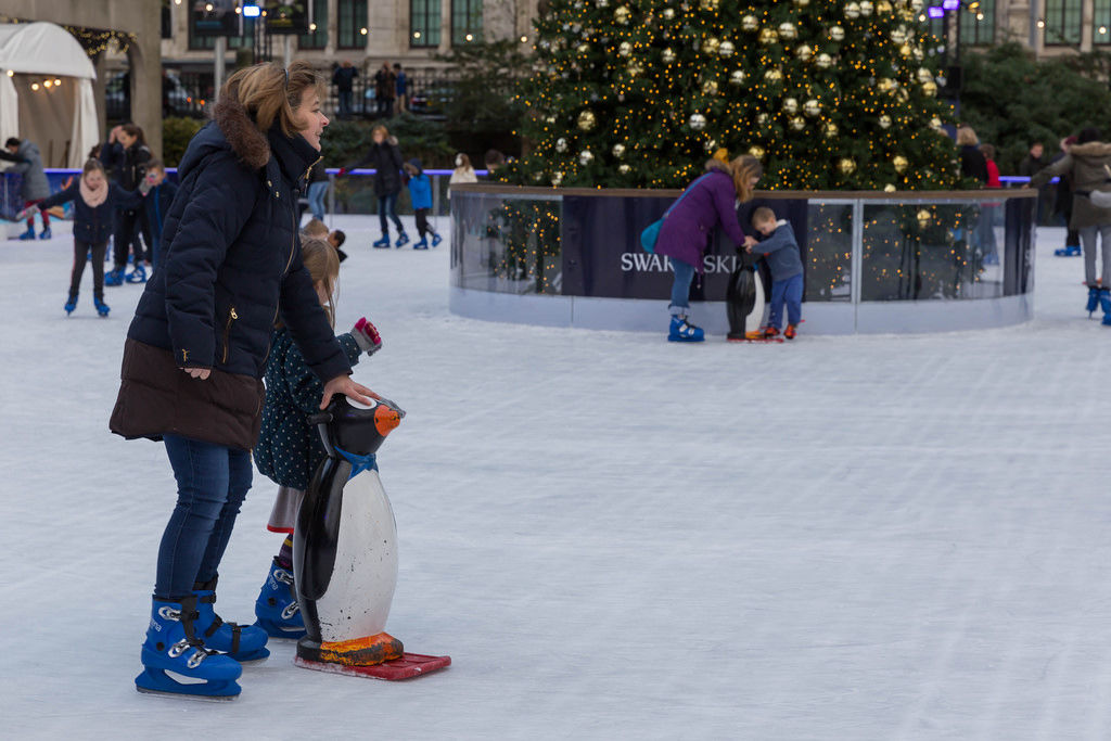 Ice Rink of Natural History Museum London