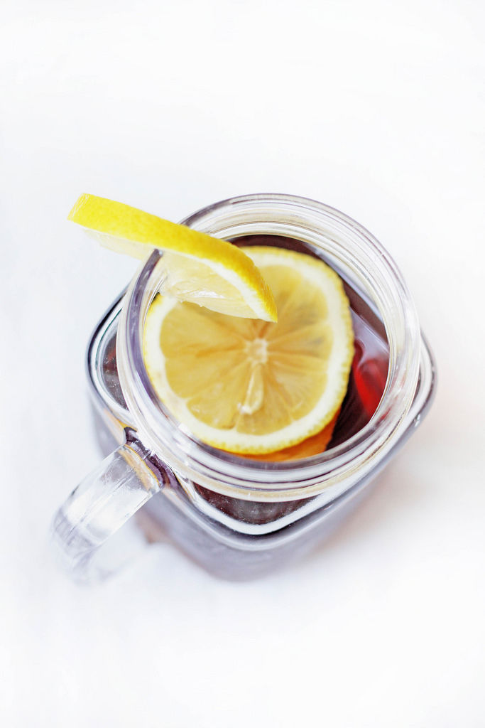 Ice-Tee mit Zitrone