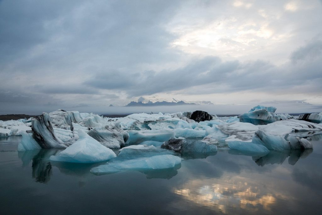 Iceland blue and black Iceberg
