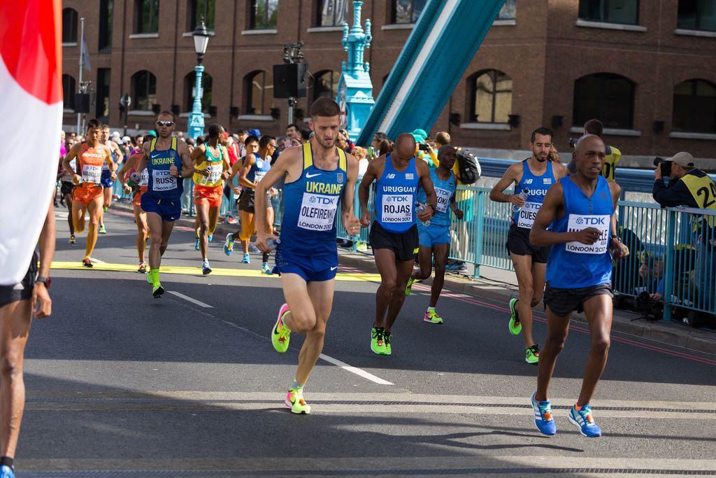 Ihor Olefirenko, Aguelmis Rojas und weitere Läufer (Marathon Finale) bei den IAAF Leichtathletik-Weltmeisterschaften 2017 in London