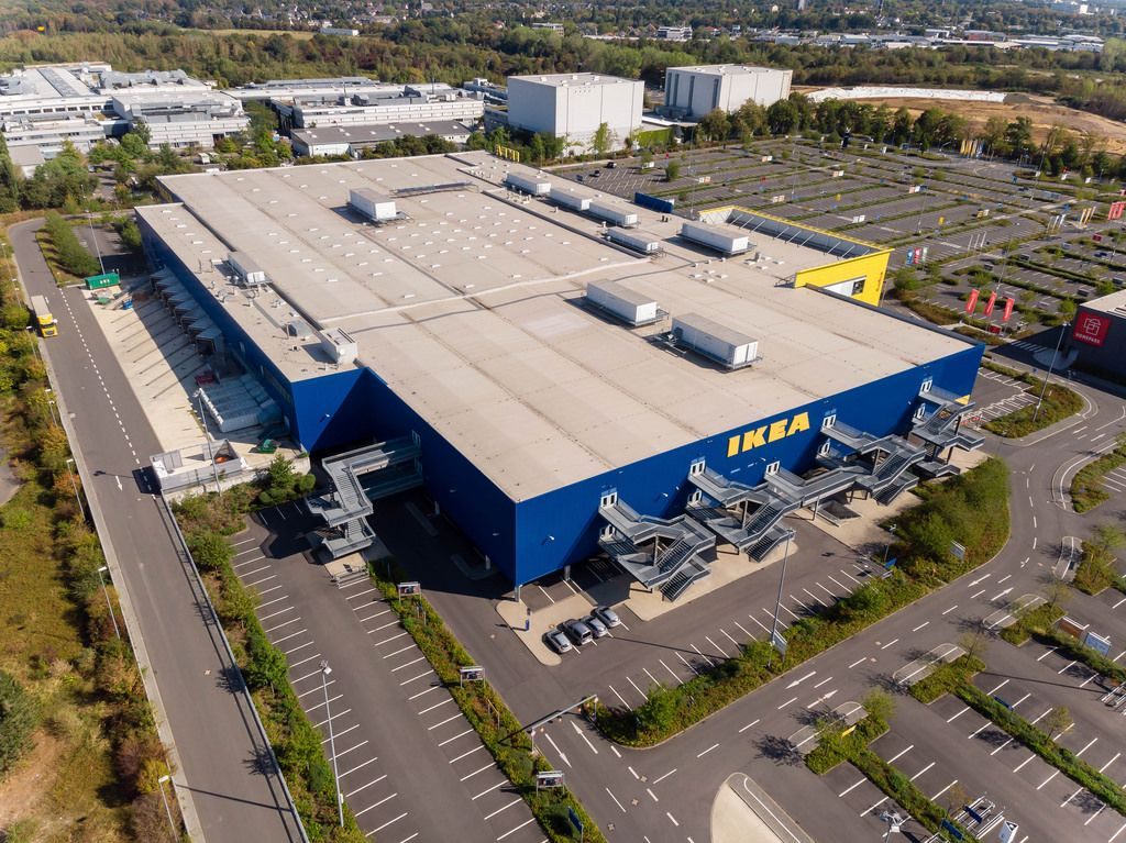 IKEA in Köln-Ossendorf. Luftbildaufnahme