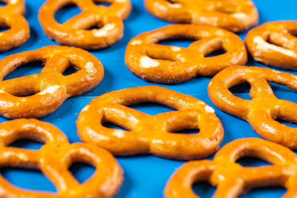 Industry Snacks Pretzels closeup image