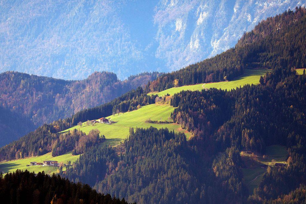 Inn Valley view from Brenner Alm, Austria