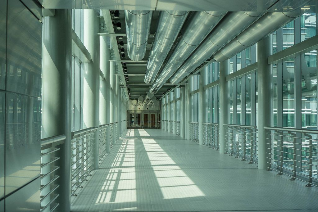 Inside the Skybridge of Petronas Twin Towers in Kuala Lumpur