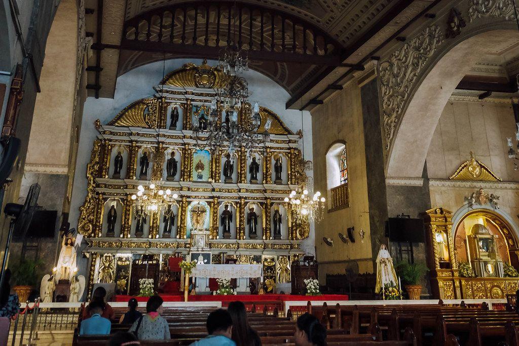 Inside the Sto. Nino Church in Cebu