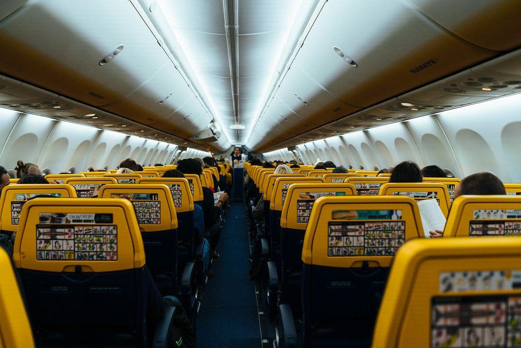 Interior of a Ryanair flight (Flip 2019)