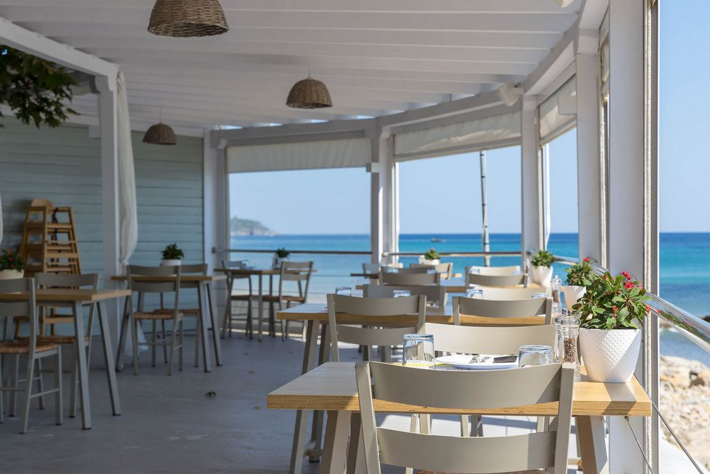 Interior of Aelia Restaurant Kassandra