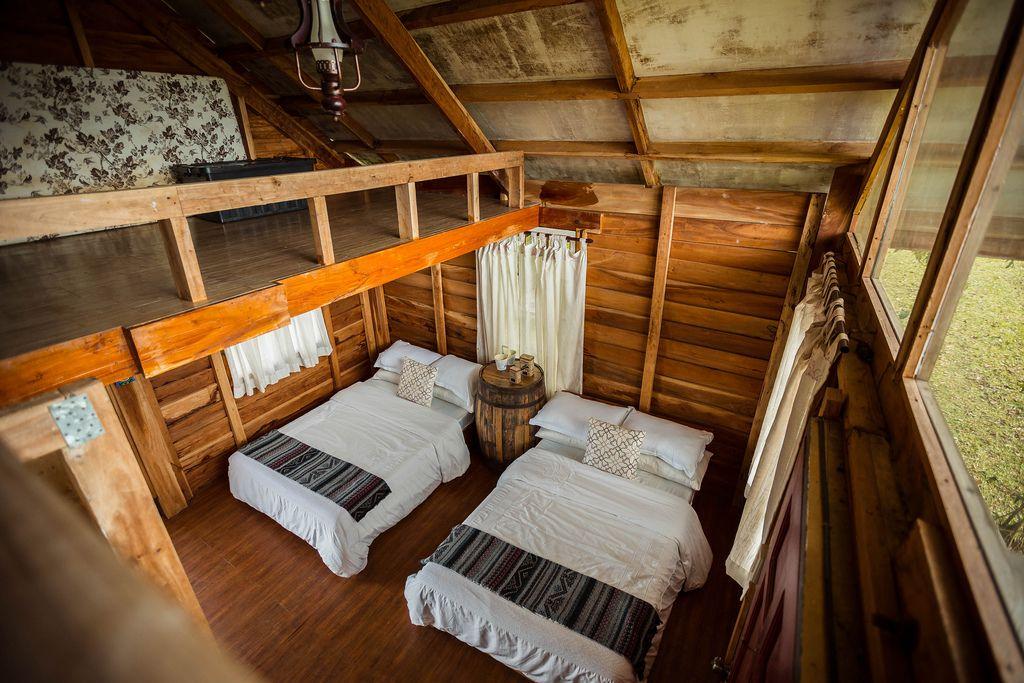 Interior of the Cozy Cabin in Salvador Benedicto